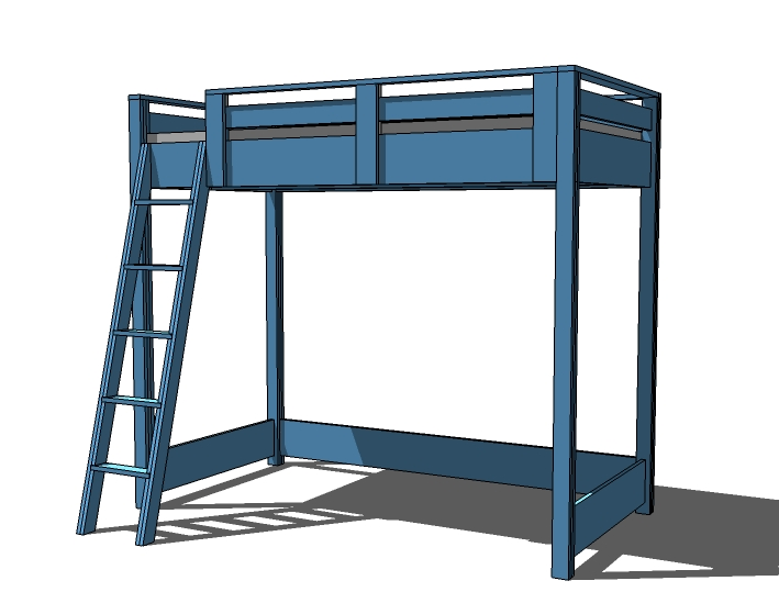 full size loft bunk bed plans